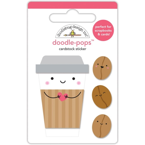 Doodlebug COFFEE MATES Doodle Pops 3D Stickers Cream and Sugar 5471 Preview Image