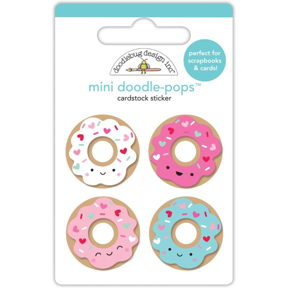 Doodlebug MINI DONUTS Doodle Pops 3D Stickers Cream and Sugar 5470 zoom image