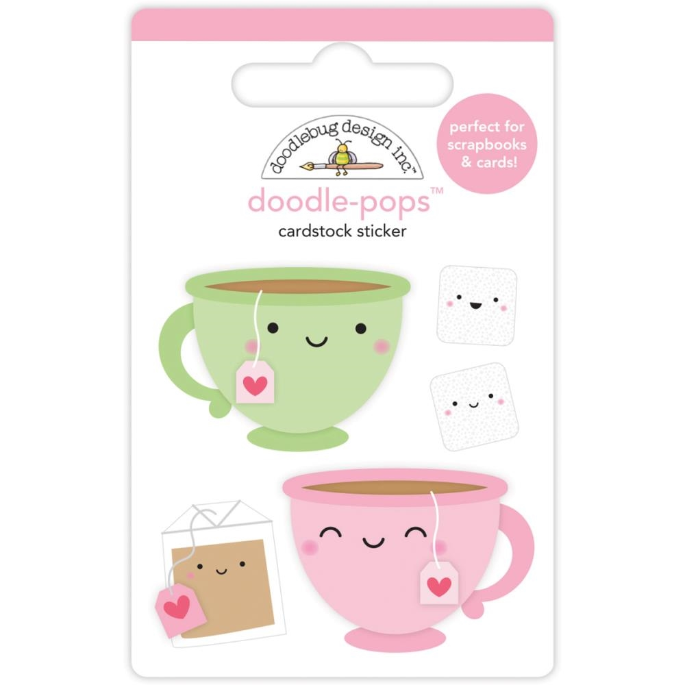 Doodlebug TEA FOR TWO Doodle Pops 3D Stickers Cream and Sugar 5469 zoom image