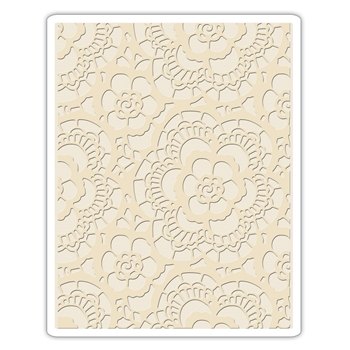 Tim Holtz Sizzix LACE Texture Fades Embossing Folder 661824