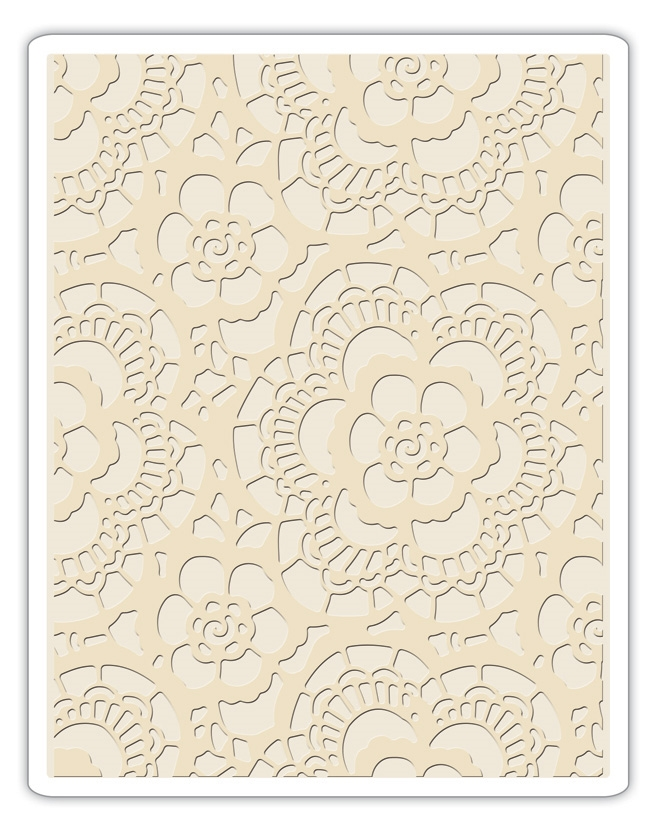 Tim Holtz Sizzix LACE Texture Fades Embossing Folder 661824 zoom image