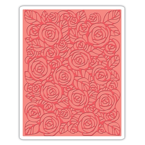 Tim Holtz Sizzix ROSES Texture Fades Embossing Folder 661829 Preview Image