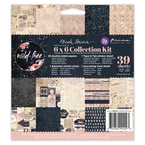 Prima Marketing WILD AND FREE 6 x 6 Collection Kit 992293 Preview Image