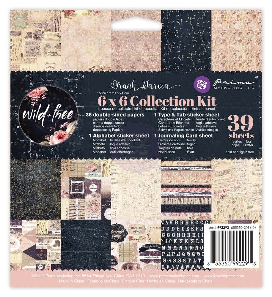 Prima Marketing WILD AND FREE 6 x 6 Collection Kit 992293 zoom image