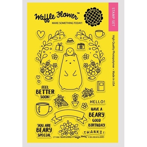 Waffle Flower BEAR AND BIRD Clear Stamp Set 271086* Preview Image