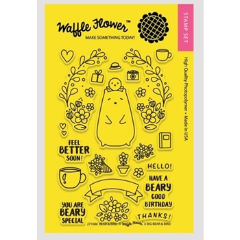 Waffle Flower BEAR AND BIRD Clear Stamp Set 271086*