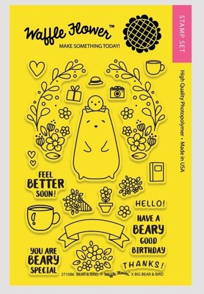 Waffle Flower BEAR AND BIRD Clear Stamp Set 271086* zoom image