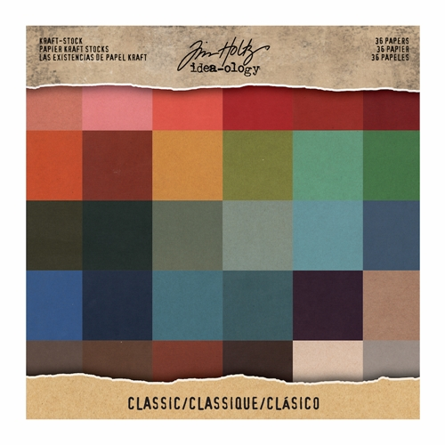 Tim Holtz Idea-ology 8 x 8 Paper Stash CLASSIC KRAFT STOCK TH93585 Preview Image