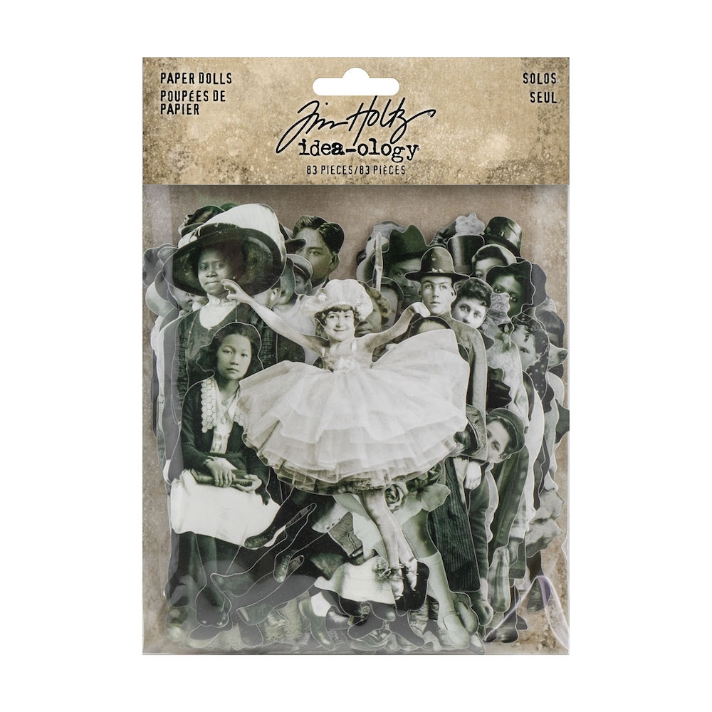 Tim Holtz Idea-ology PAPER DOLLS TH93555 zoom image