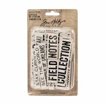 Tim Holtz Idea-ology QUOTE CHIPS TH93563