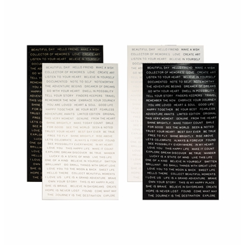 Tim Holtz Idea-ology QUOTATIONS Metallic Stickers Paperie TH93559
