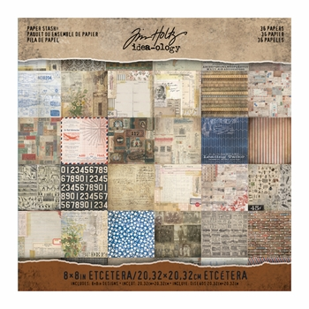 Tim Holtz Idea-ology 8 x 8 Paper Stash ETCETERA TH93551