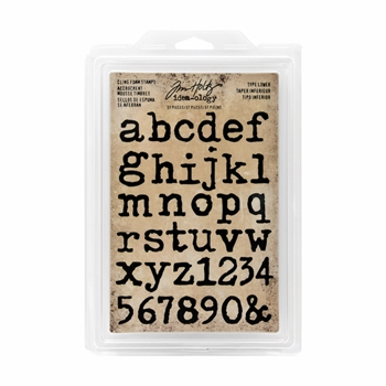 Tim Holtz Idea-ology TYPE LOWER Cling Foam Stamps TH93579