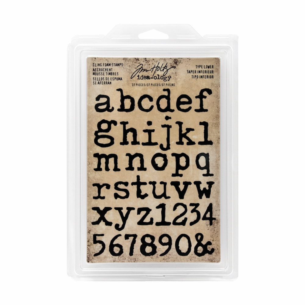 Tim Holtz Idea-ology TYPE LOWER Cling Foam Stamps TH93579 zoom image