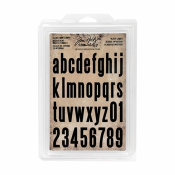 Tim Holtz Idea-ology BLOCK LOWER Cling Foam Stamps TH93578