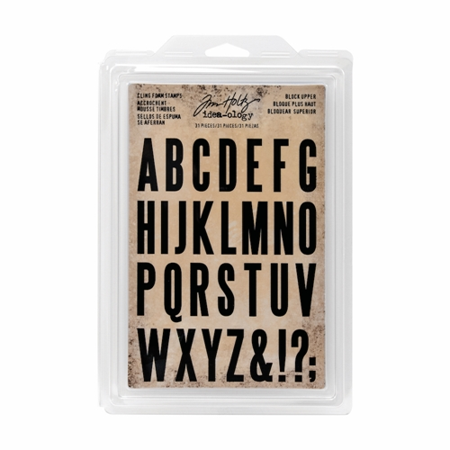 Tim Holtz Idea-ology BLOCK UPPER Cling Foam Stamps TH93577 Preview Image