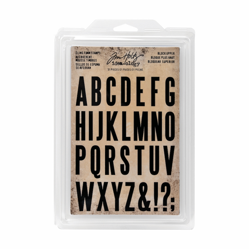 Tim Holtz Idea-ology BLOCK UPPER Cling Foam Stamps TH93577 zoom image