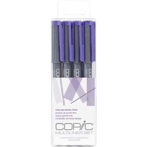 Copic Multiliner LAVENDER Ink Pen Set 054253 Preview Image