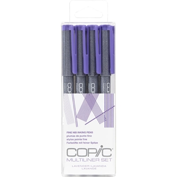 Copic Multiliner LAVENDER Ink Pen Set 054253