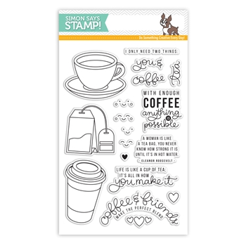 Simon Says Clear Stamps COFFEE AND TEA SSS101695