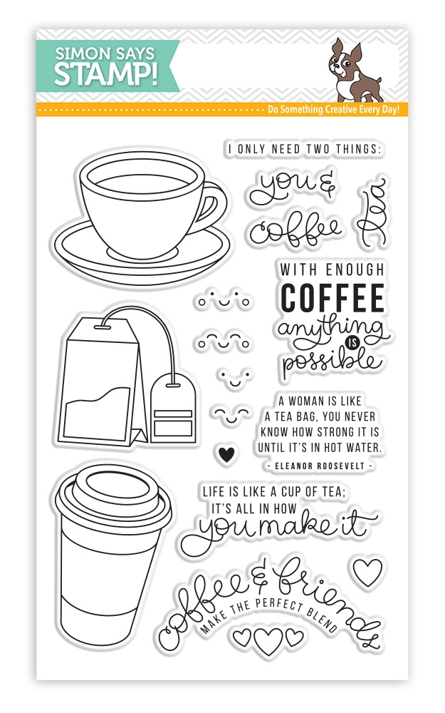 Simon Says Clear Stamps COFFEE AND TEA SSS101695 zoom image