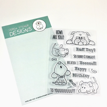Gerda Steiner Designs HOWL ARE YOU Clear Stamp Set GSD456