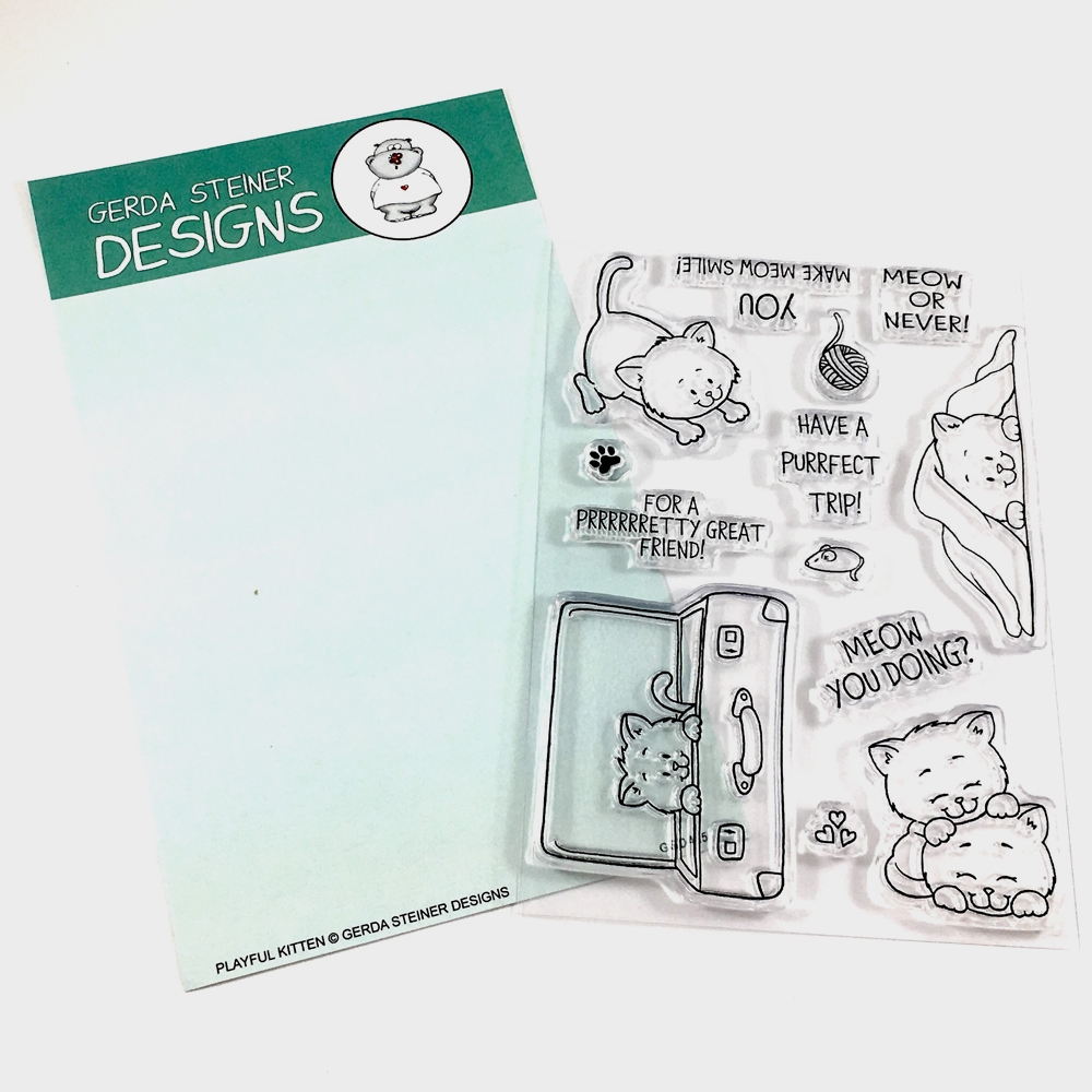 Gerda Steiner Designs PLAYFUL KITTEN Clear Stamp Set GSD415 zoom image