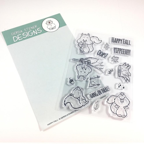 Gerda Steiner Designs HAPPY FALL Clear Stamp Set GSD433 Preview Image