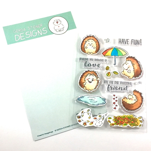 Gerda Steiner Designs CHEERFUL HEDGEHOG Clear Stamp Set GSD491 Preview Image