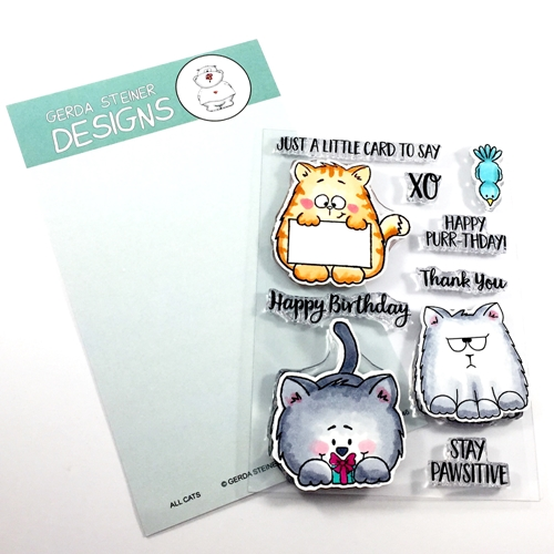 Gerda Steiner Designs ALL CATS Clear Stamp Set GSD546 Preview Image