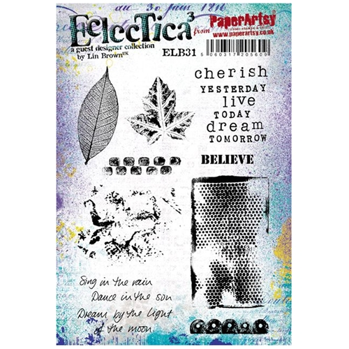 Paper Artsy ECLECTICA3 LIN BROWN 31 Rubber Cling Stamp ELB31* Preview Image