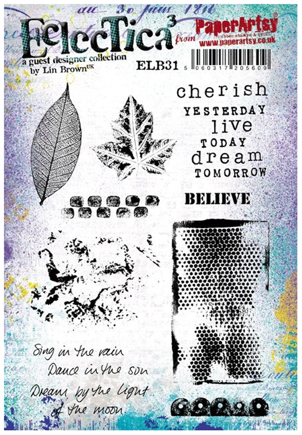Paper Artsy ECLECTICA3 LIN BROWN 31 Rubber Cling Stamp ELB31* zoom image