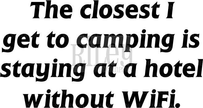 Riley and Company Funny Bones CAMPING WITHOUT WIFI Cling Stamp Set RWD 572* zoom image