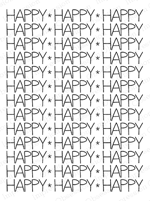 Impression Obsession Cling Stamp HAPPY BACKGROUND L14580 zoom image