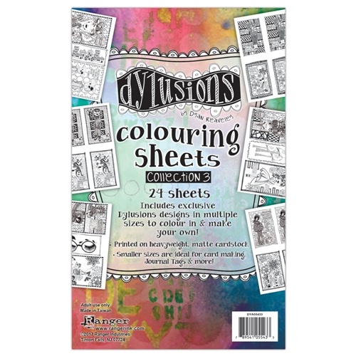 Ranger Dylusions COLORING SHEETS COLLECTION  3 DYA55433 Preview Image