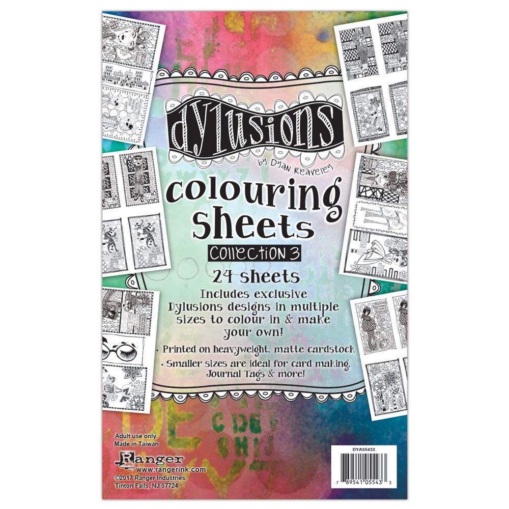 Ranger Dylusions COLORING SHEETS COLLECTION  3 DYA55433 zoom image