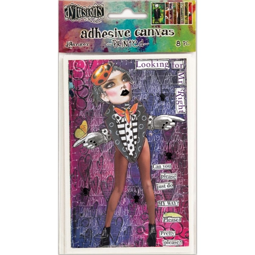 Ranger Dylusions PRINTED ADHESIVE CANVAS IMAGES DYA52760 Preview Image