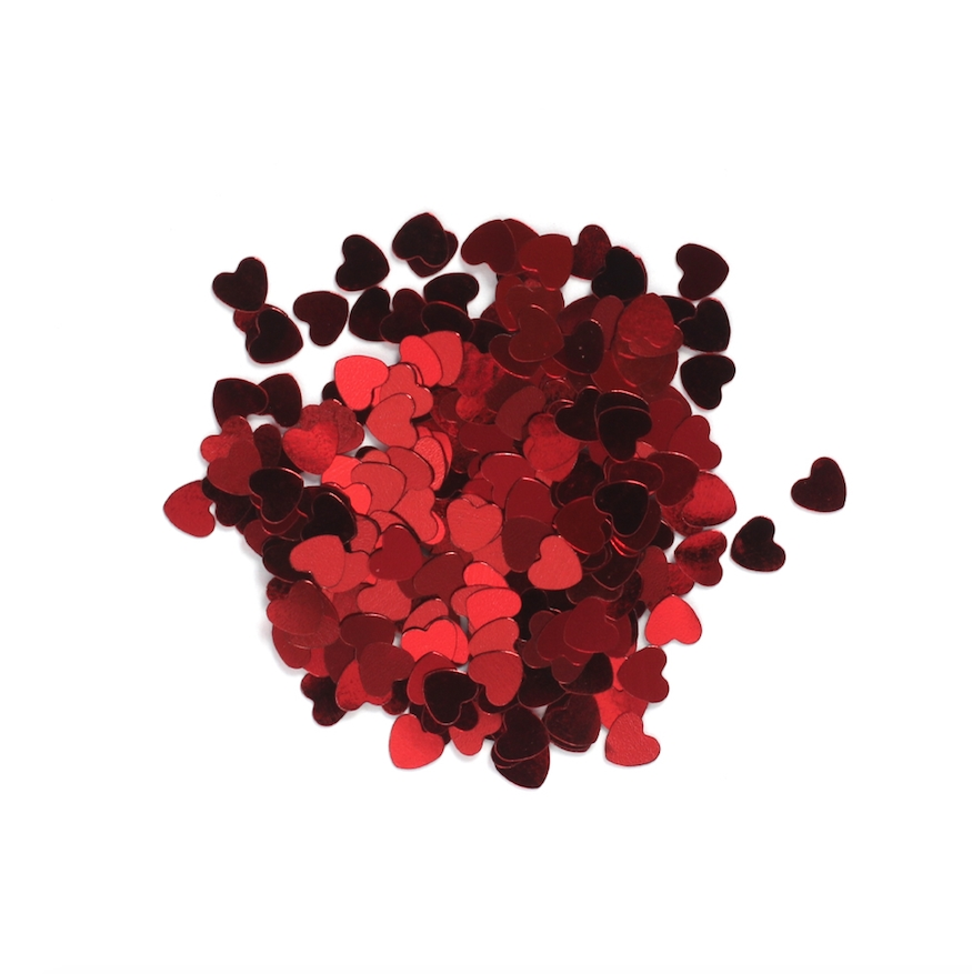 Darice 6mm Heart Shaped RED CONFETTI 163041 zoom image