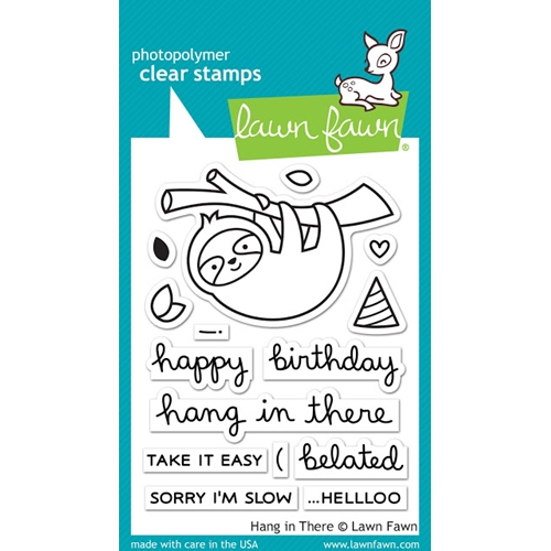 Lawn Fawn HANG IN THERE Clear Stamps LF1311 Preview Image