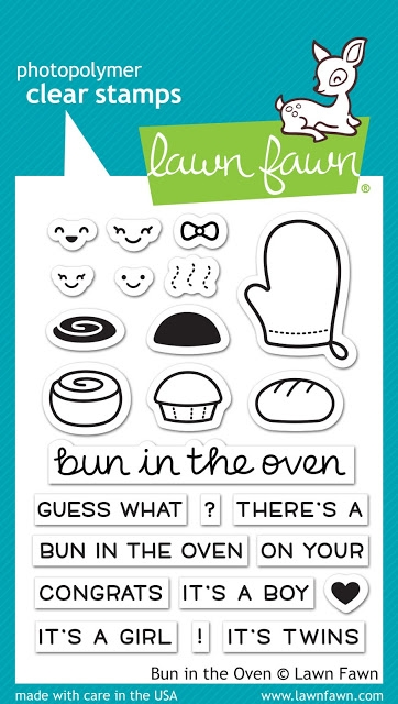 Lawn Fawn BUN IN THE OVEN Clear Stamps LF1317 zoom image