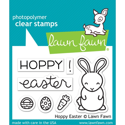 Lawn Fawn HOPPY EASTER Clear Stamps LF1319 Preview Image