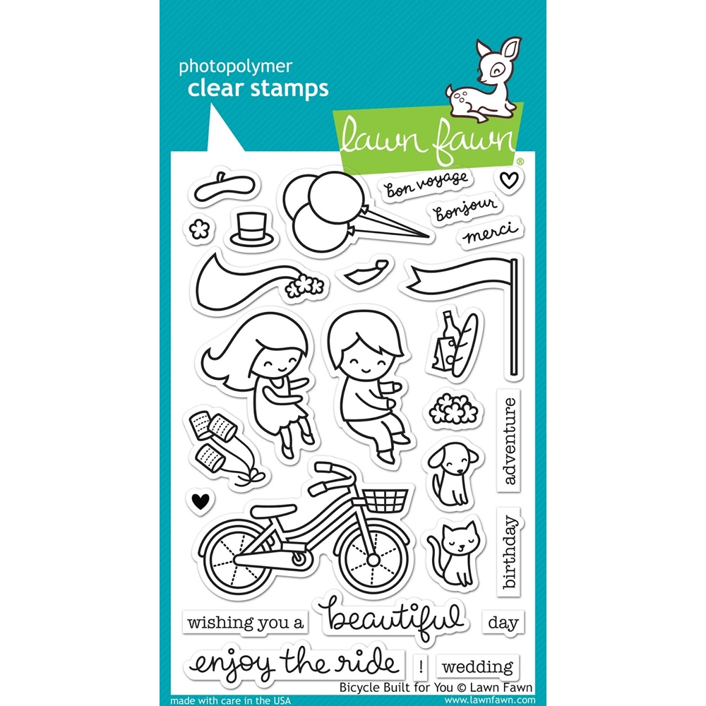 Lawn Fawn BICYCLE BUILT FOR YOU Clear Stamps LF1323 zoom image