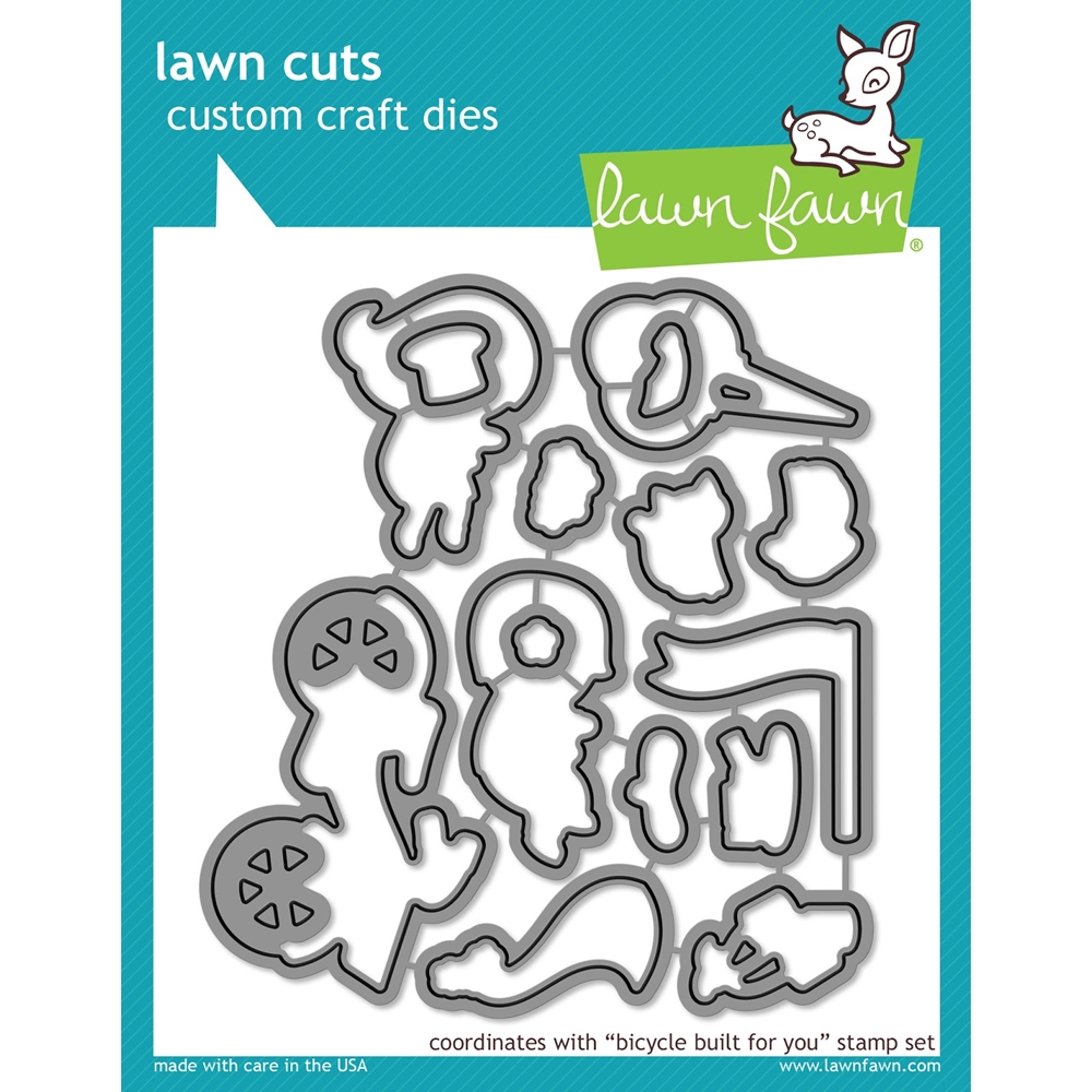 Lawn Fawn BICYCLE BUILT FOR YOU Lawn Cuts LF1324 zoom image