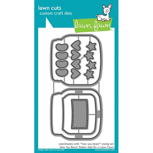 Lawn Fawn HOW YOU BEAN? Shaker Add-On Lawn Cuts Dies LF1327 Preview Image