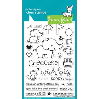 Lawn Fawn ELPHIE SELFIE Clear Stamps LF1328