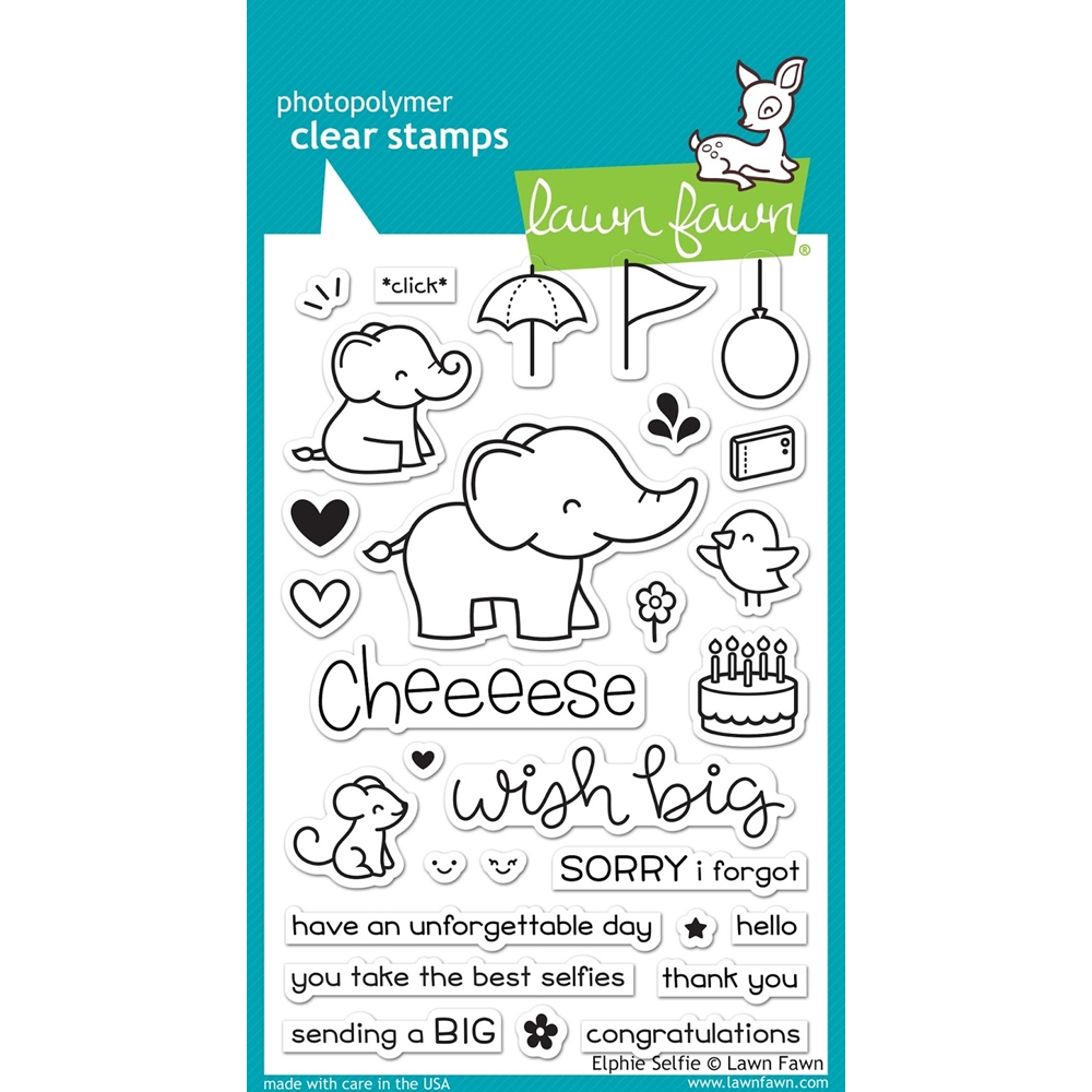 Lawn Fawn ELPHIE SELFIE Clear Stamps LF1328 zoom image