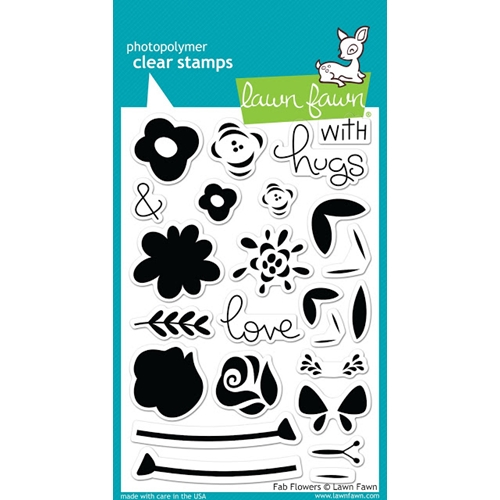 Lawn Fawn FAB FLOWERS Clear Stamps LF1332 Preview Image