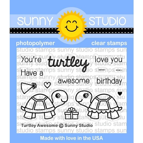 Sunny Studio TURTLEY AWESOME Clear Stamp Set SSCL-153 Preview Image
