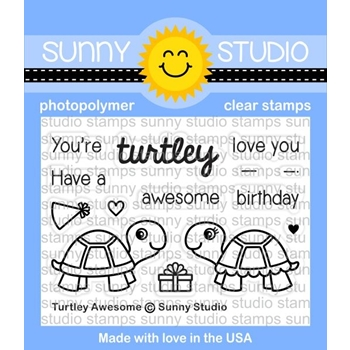 Sunny Studio TURTLEY AWESOME Clear Stamp Set SSCL 153