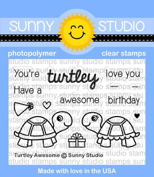 Sunny Studio TURTLEY AWESOME Clear Stamp Set SSCL-153 zoom image